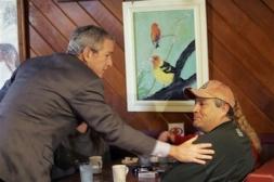 Bush in Diner