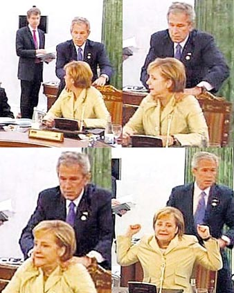 Bush Gropes Merkel