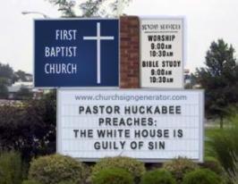 Huckabee sinner