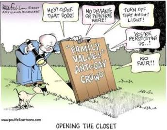 Opening the closet