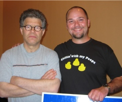 Brodkorb with Al Franken