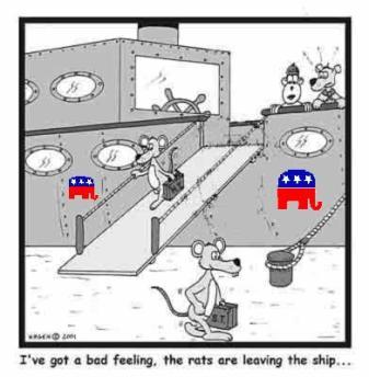 Rats sinking Ship
