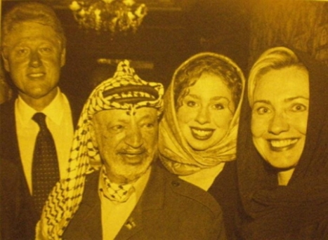 Clintons and Arafat
