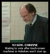 Corzine Voting