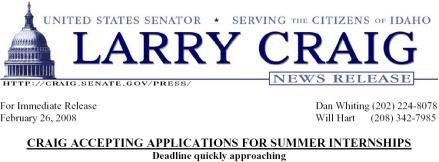 Larry Craig ad